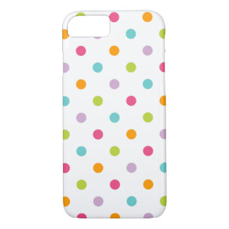 Cute Girly Colorful Polka Dots iPhone 7 Case