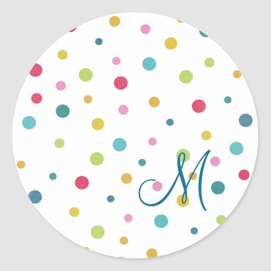 Cute girly colourful different sizes polka dots classic