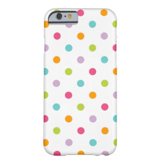 Cute Girly Colourful Polka Dots Barely There iPhone 6 Case