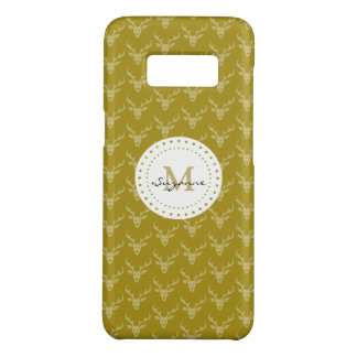 Cute Girly Deer Pattern Monogrammed Case-Mate Samsung Galaxy S8 Case