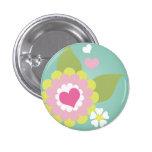Cute girly flower 3 cm round badge