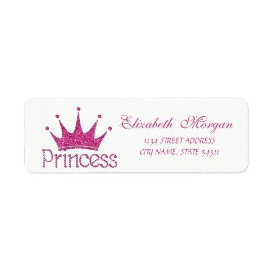 Cute  Girly Glittery Tiara,Princess Address Label
