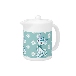 Cute girly Kitty Cat Aqua Blue~