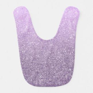 Cute Girly Lavender Faux Glitter Pattern Bibs