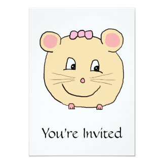 Cute Girly Mouse. Card