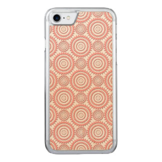 Cute Girly Pattern Pink and White Geometric Circle Carved iPhone 8/7 Case