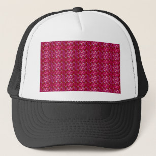 Cute Girly Pink Abstract Floral Print Trucker Hat 5b7cae2d1ad