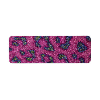 Cute Girly Pink and mulitcolored glitter Cheetah