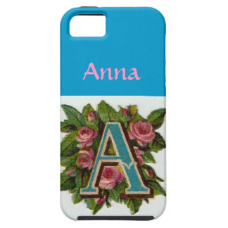 Cute Girly Pink Monogram - Zazzle iPhone 5 case