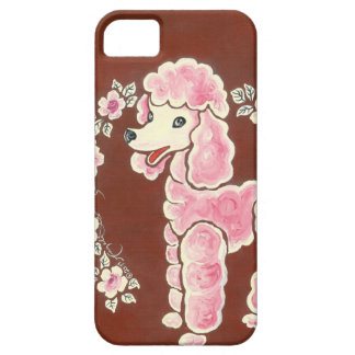 Cute Girly Pink Poodle Dog iPhone 5 Covers