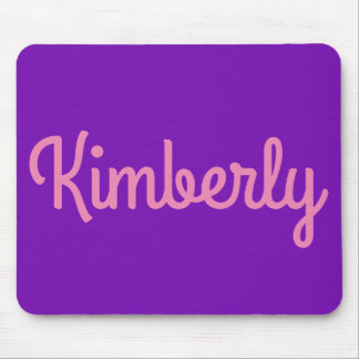 Cute Girly Pink Purple Monogrammed Personalized Mouse Pad