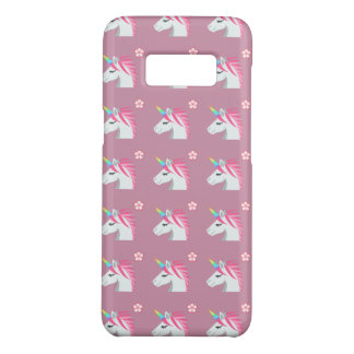 Cute Girly Pink Unicorn Flower Emoji Pattern Case-Mate Samsung Galaxy S8 Case