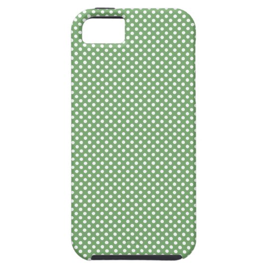 Cute Girly Polka Dots Green Tough iPhone 5