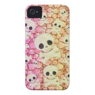 Cute Girly Skull Pattern Case-Mate iPhone 4 Cases