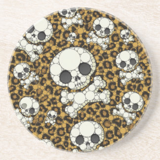 Cute Girly Skull Pattern Beverage Coasters