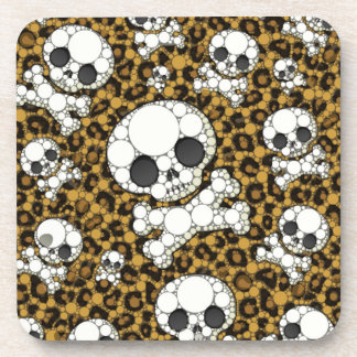 Cute Girly Skull Pattern Drink Coasters