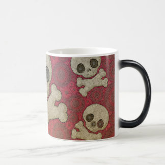 Cute Girly Skull Pattern Morphing Mug