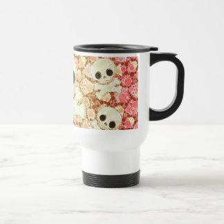 Cute Girly Skull Pattern Stainless Steel Travel Mug