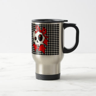 Cute Girly Skull with Stars & Bows Stainless Steel Travel Mug