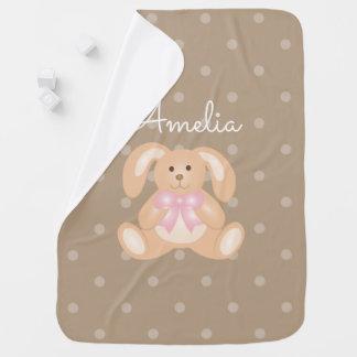 Cute Girly Sweet Adorable Baby Bunny Rabbit Girls Baby Blanket