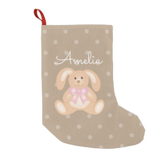 Cute Girly Sweet Adorable Baby Bunny Rabbit Girls Small Christmas Stocking
