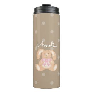 Cute Girly Sweet Adorable Baby Bunny Rabbit Thermal Tumbler