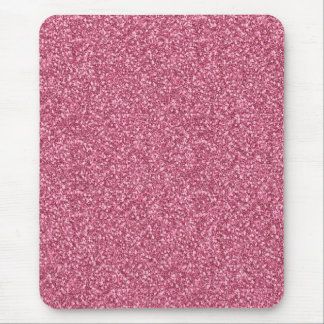 Cute girly trendy fashionable bubble gum pink mouse mat