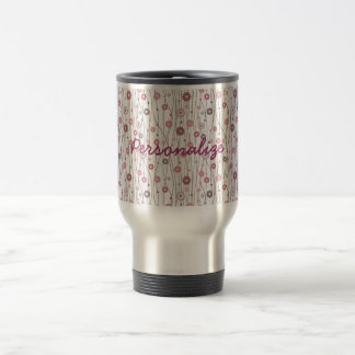 Cute girly trendy vintage floral pattern travel mug
