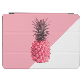 Cute girly tropical pink and white pineapple iPad air cover