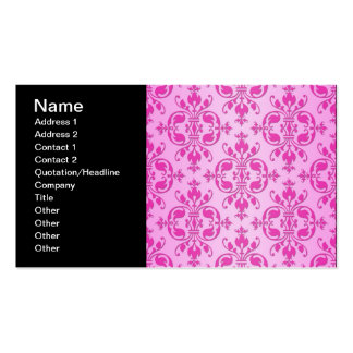 Cute Girly Two Tone Pink Damask Pack Of Standard Business Cards