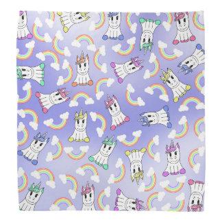 Cute Girly Unicorns and Colorful Rainbows Pattern Bandana