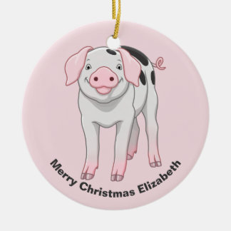 Cute Gloucestershire Old Spots Pig Christmas Ornament