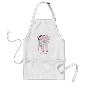 Cute Gloucestershire Old Spots Pig Standard Apron
