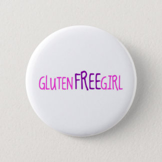 Cute Gluten Free Girl 6 Cm Round Badge