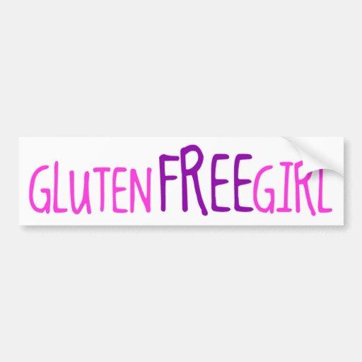 Cute Gluten Free Girl Bumper Stickers