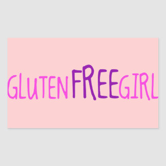 Cute Gluten Free Girl Rectangular Sticker