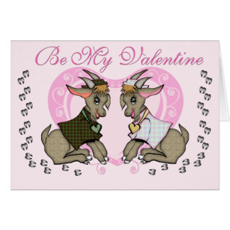 Cute Goat Valentine Greeting Card