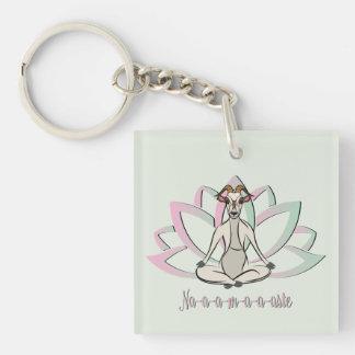 CUTE GOAT YOGA   Namaste GetYerGoat™ Key Ring