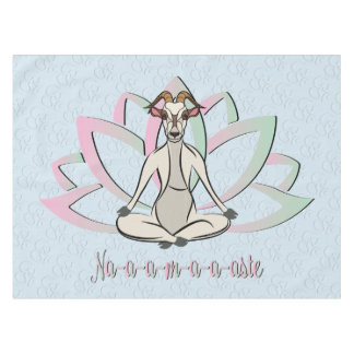 CUTE GOAT YOGA | Namaste GetYerGoat™ Tablecloth