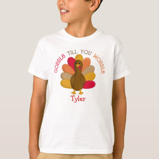 CUTE Gobble Till You Wobble Thanksgiving Day Shirt