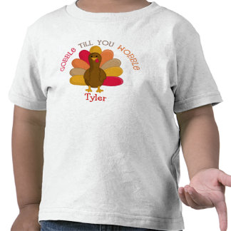 CUTE Gobble Till You Wobble Thanksgiving Day Shirt