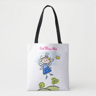 Cute Goddaughter Angel Personalized Tote Bag
