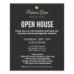 Cute Gold Heart Black Beauty Salon Open House Menu 11.5 Cm X 14 Cm Flyer