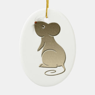 Cute Gold Mouse Ornament