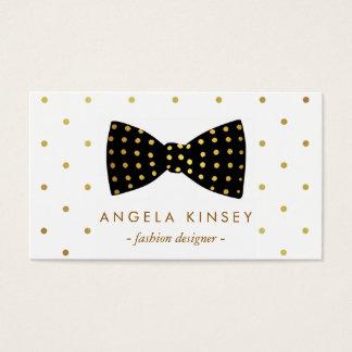 Cute Gold Polka Dots Ribbon Bow