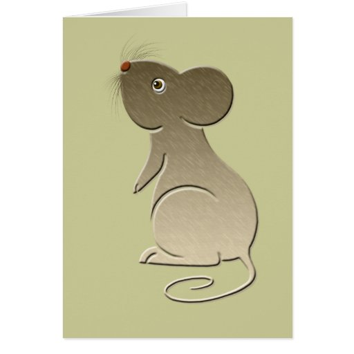 Cute Golden Mouse Greeting Cards
