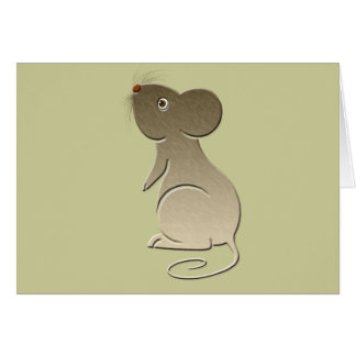 Cute Golden Mouse Greeting Card