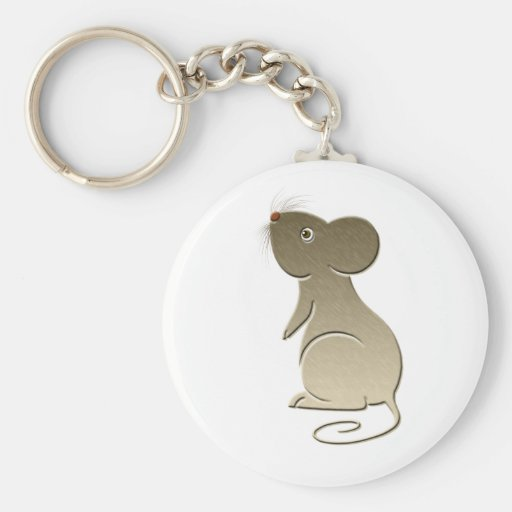 Cute Golden Mouse Keychain