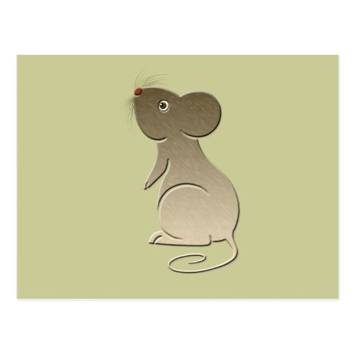 Cute Golden Mouse Post Card