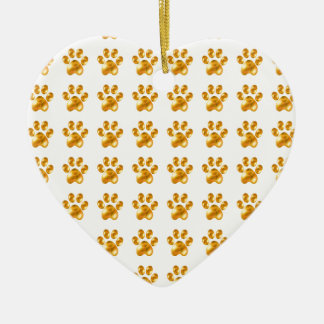 Cute Golden Paws Christmas Ornament